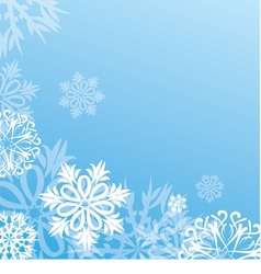 Christmas background with snowflakes on blue vector