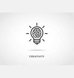 creativity idea line icon vector image