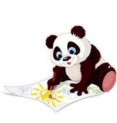 Cute panda drawing picture vector