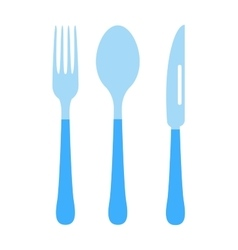 Cutlery set fork knife and spoon vector