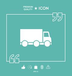 delivery car icon vector image