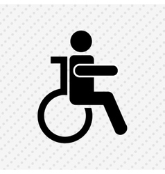 Disabled person design vector