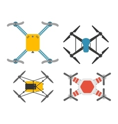 Drone quadcopter set vector image vector image