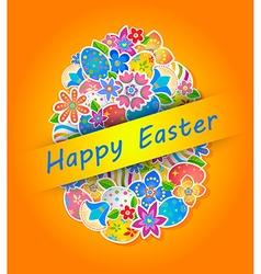 Easter Symbol Egg and Spring flower 4 vector
