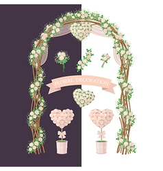 floral decoration rose vector image