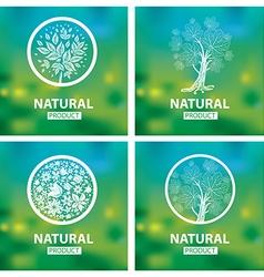 floral logo set 11 vector image