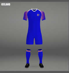 Football kit of iceland 2018 vector