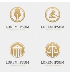 Four round law logo vector image