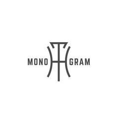 Geometric monogram ht vector