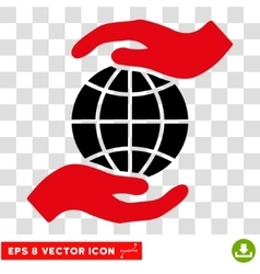 Global Insurance Hands Eps Icon vector