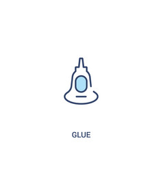 Glue concept 2 colored icon simple line element vector