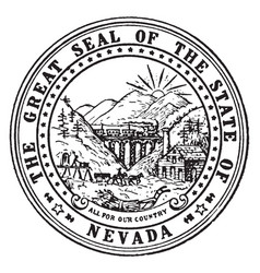 Great seal state nevada vintage vector
