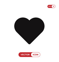 heart icon isolated on white background love vector image