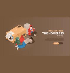 Help the homeless banner vector