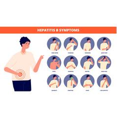 Hepatitis b symptoms hepatic awareness day liver vector