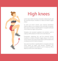 High knees poster text sample vector