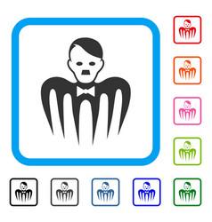 Hitler croupier monster framed icon vector