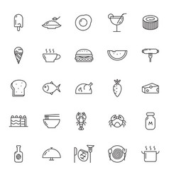 Icon food and beverage vector