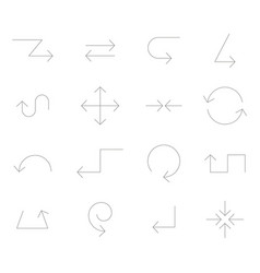icon set with arrows vector image
