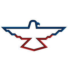 isolated american emblem vector image