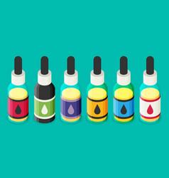Isometric e-liquid bottle for vaping vector