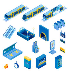 Isometric underground set vector