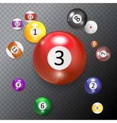 Ivories Billiard Balls Set vector
