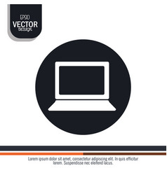 Laptop computer design vector