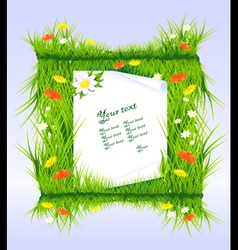 letter in grass vector image
