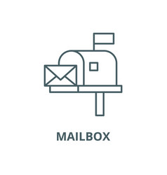 mailbox line icon linear concept outline vector image