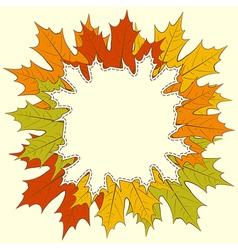 Maple Leaf Frame vector image