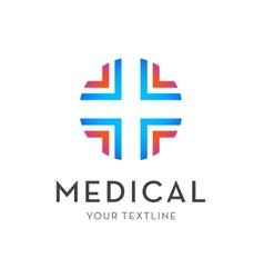 Medical logo - cross isolated vector