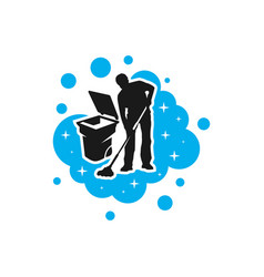 mens cleaning service modern logo vector image