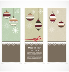 Merry christmas banner vector