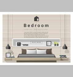 Modern bedroom background Interior design 1 vector
