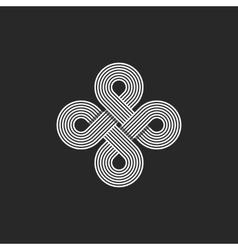 Monogram infinity logo geometric linear loop vector