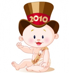 new year 2010 vector image