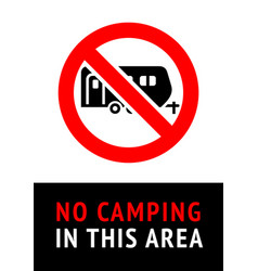 no camping trendy poster ready to print vector image