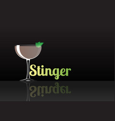 Official cocktail icon the unforgettable stinger vector
