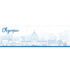 Olympia outline vector