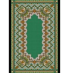 Pattern for green carpet vector