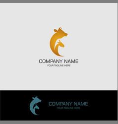 pet care symbol logo vector image