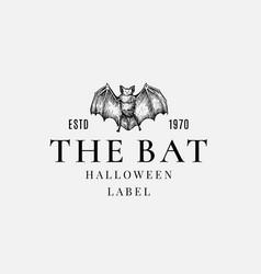 premium quality halloween logo or label template vector image
