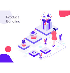 product bundling isometric modern flat design vector image
