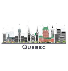 Quebec canada city skyline with gray buildings vector
