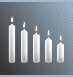 realistic detailed 3d white blank candle on a vector image