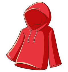Red raincoat on white background vector