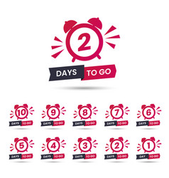 Sale banner with countdown clock and text vector