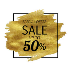 sale golden blot vector image
