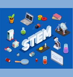 scientific education isometric composition vector image